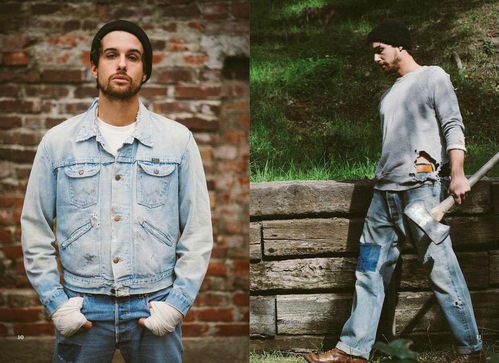 lot, stock and barrel lookbook 2015 // photography by jon dragonette // chain stitch work by chain gang la