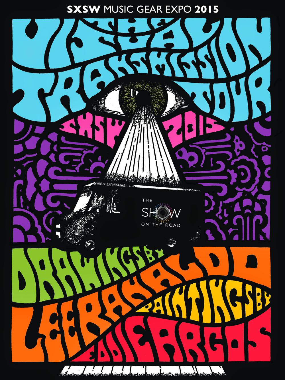 poster was designed by christian bland of the black angels.