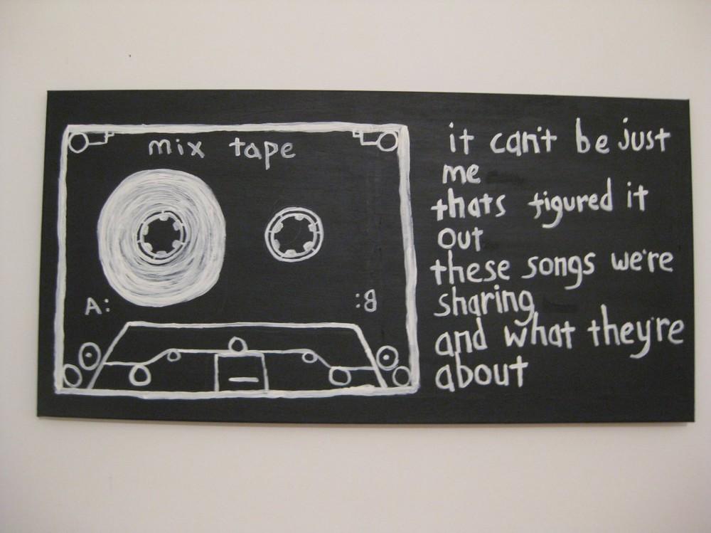 """eddie argos // transparent mixtape // 12"""" x 24"""" // 2014 // acrylic on canvas"""