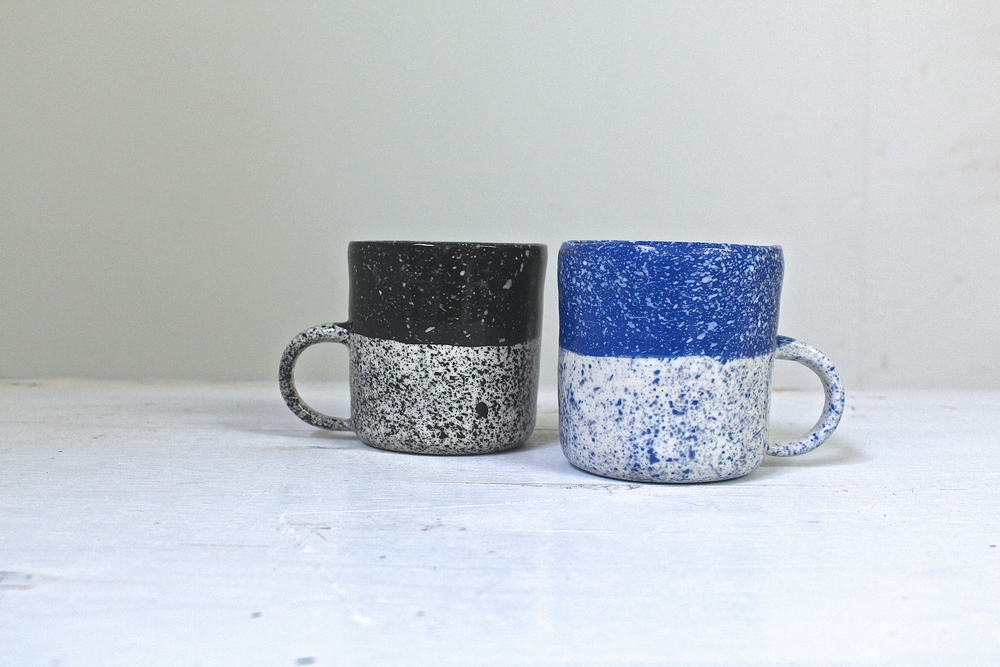 btw ceramics // speckled mugs