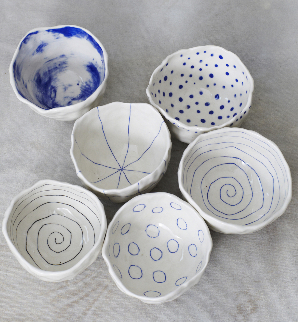 btw ceramics // pinch bowls