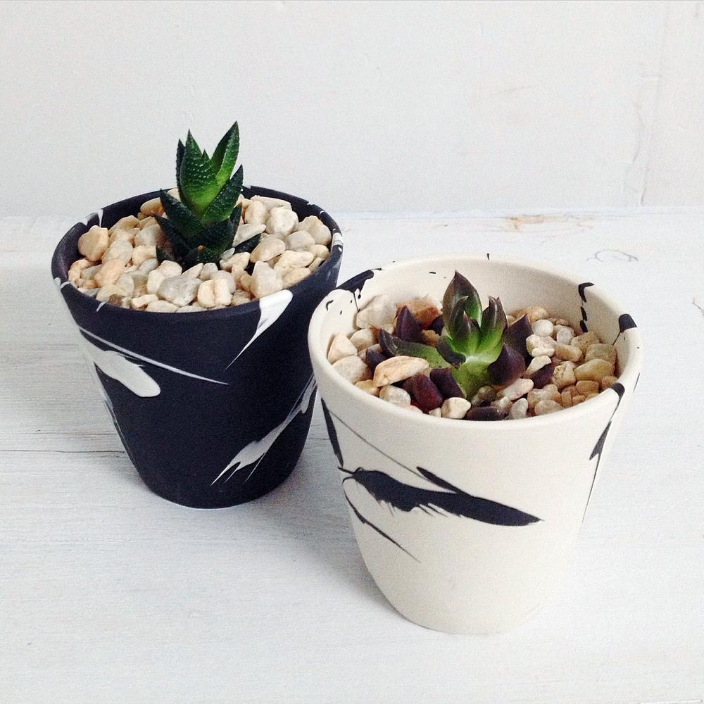 btw ceramics // splatter planters