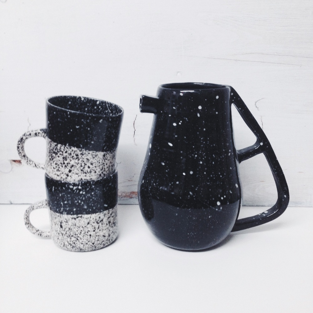 btw ceramics // speckled sets