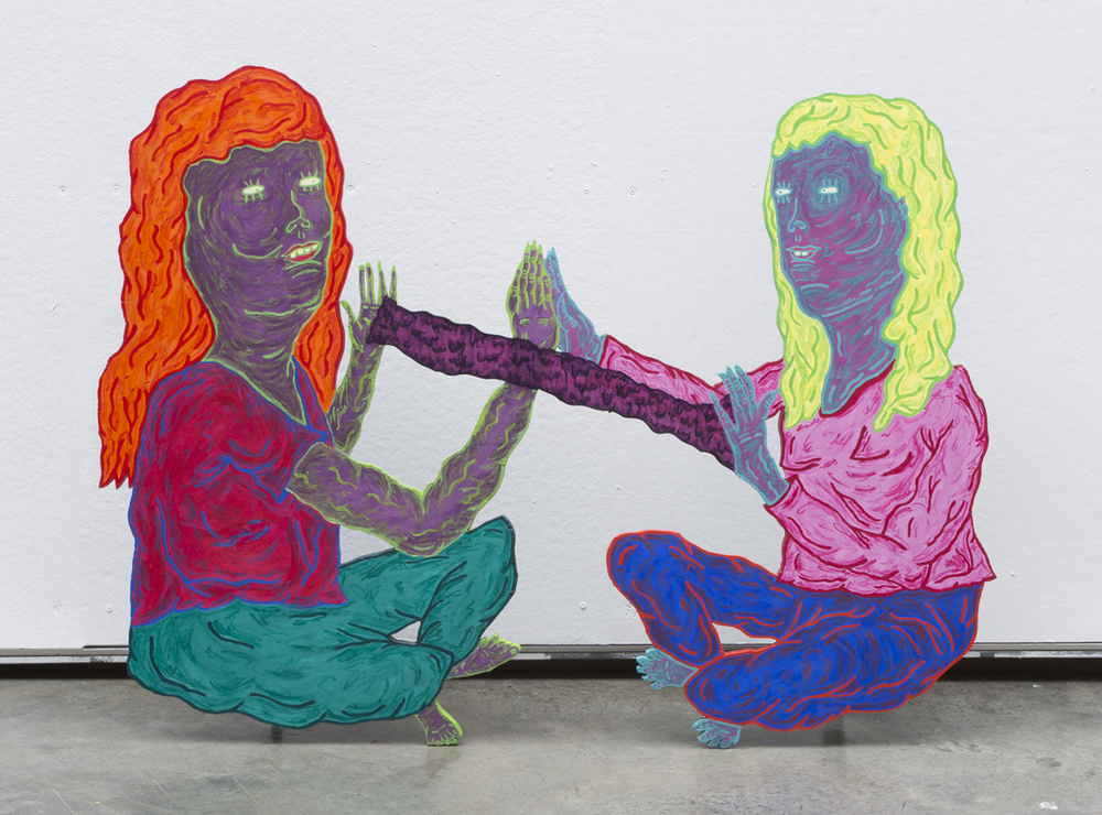 "jessica butler // patti break // 2014 // acrylic paint on wood // 63"" x 11.5"" x 48"""
