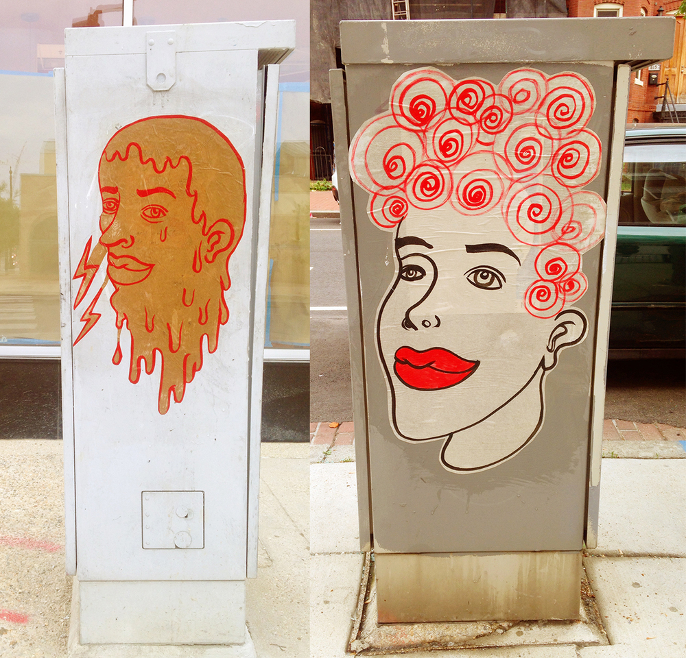 rose jaffe // wheatpasted portraits