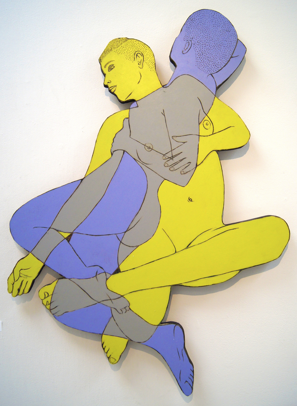 rose jaffe // wood cut out piece from her recent series women in color