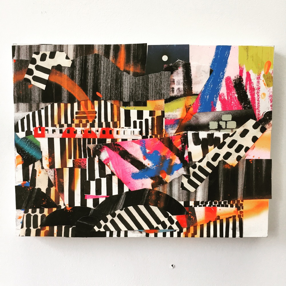 """jason turner // (untitled) maniac // mixed media on panel // 12"""" x 9"""""""