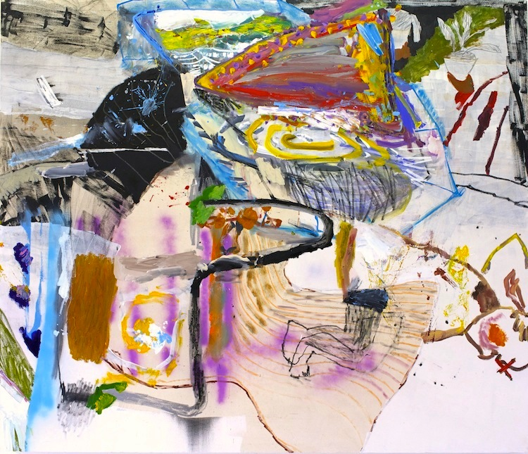daniel herr // good neighbor // oil + charcoal on canvas // 72 x 84 inches // 2015