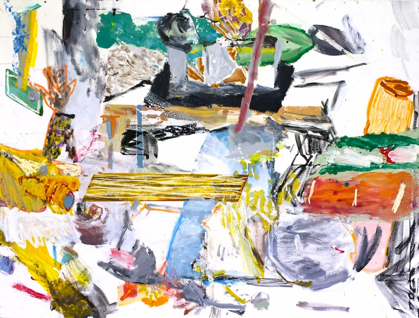 daniel herr // 2x tabled // oil + chalk pastel on canvas // 60 x 80 inches // 2015
