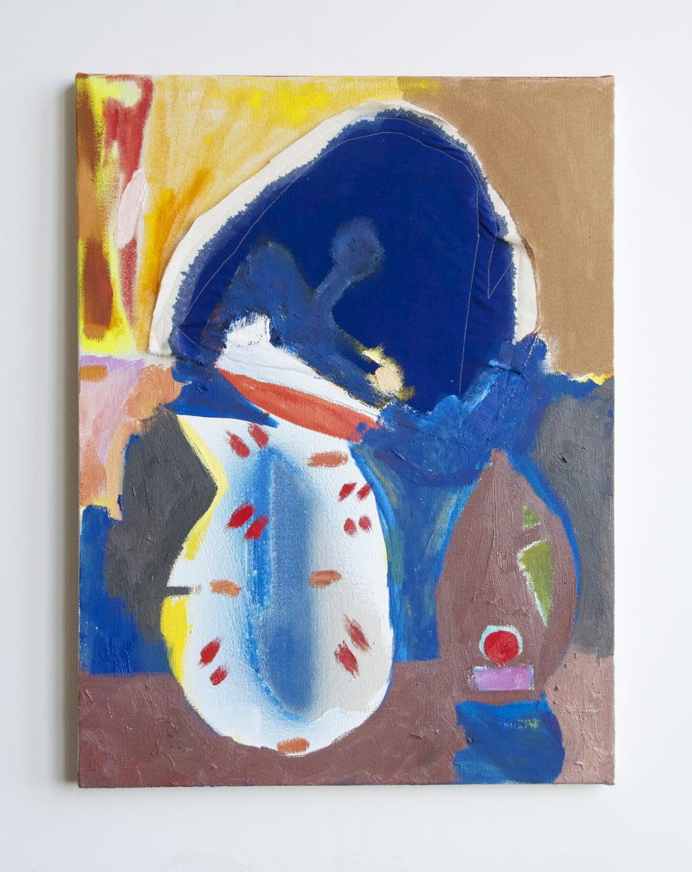 """naomi clark // mud huts // oil on canvas // 19"""" x 24""""// 2015"""