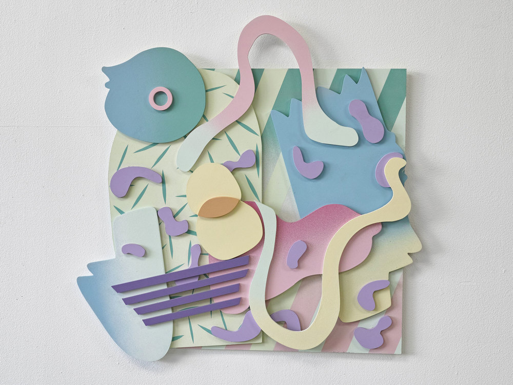 gregory c. brunet // cut/copy 02 // spray paint on mdf // dimensions variable // 2015