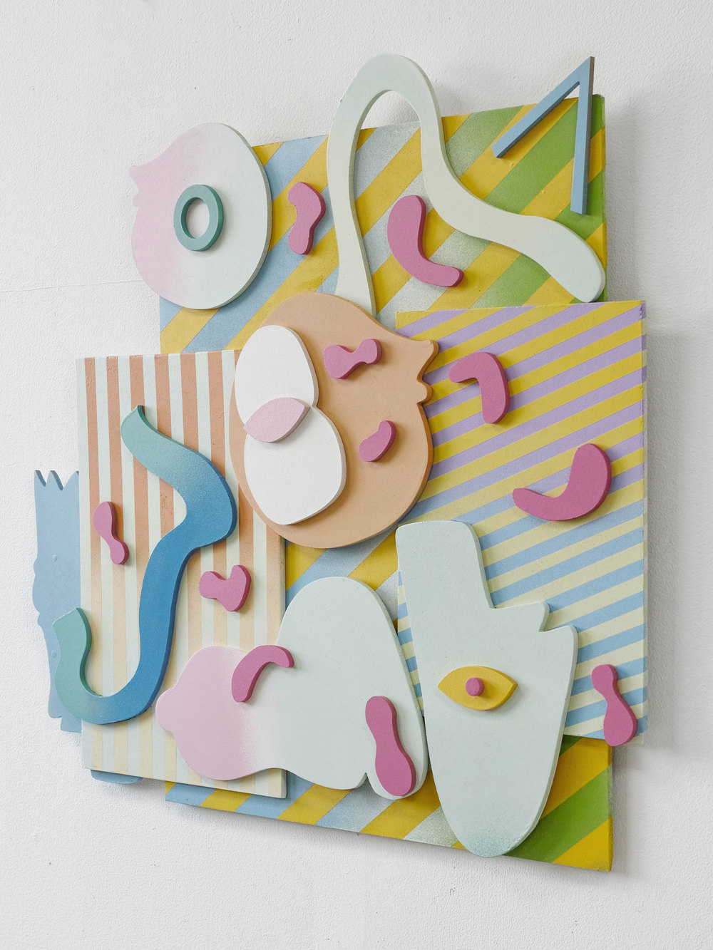 gregory c. brunet // cut/copy 08 // spray paint on mdf //dimensions variable // 2015