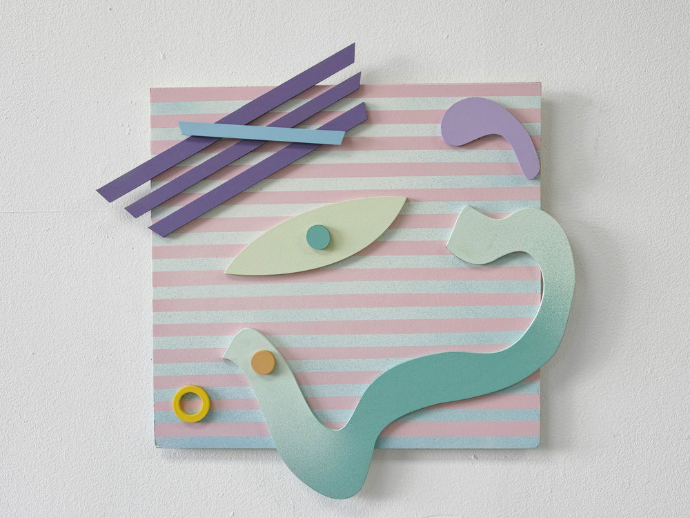 gregory c. brunet // cut/copy 04 // spray paint on mdf // dimensions variable // 2015