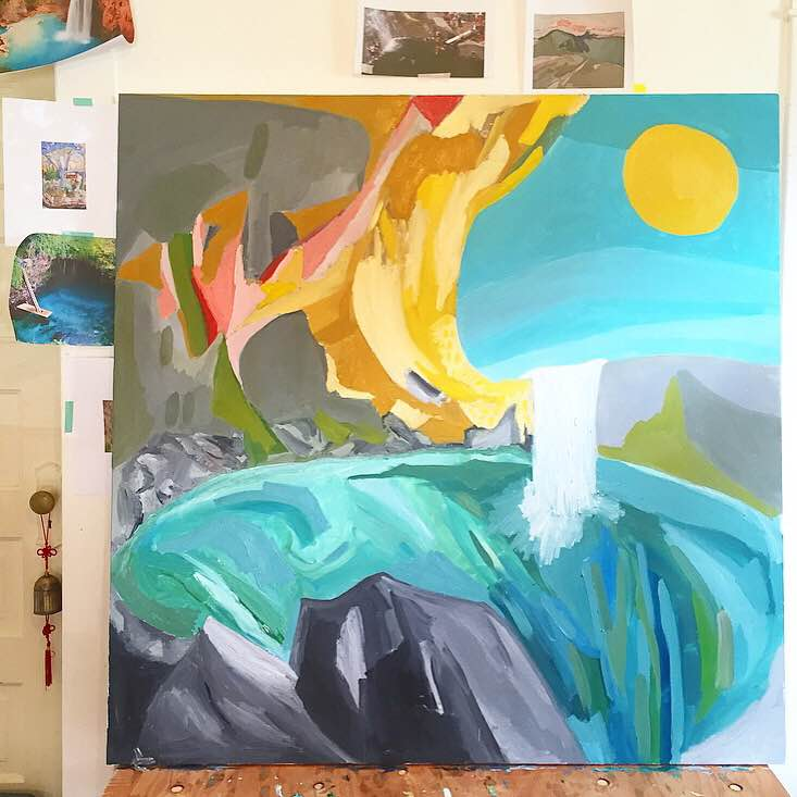 regina schilling // swimming holes // 4' x 4' // oil paint on canvas // 2016