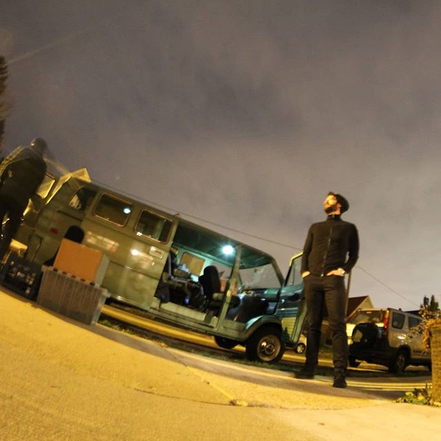 Evening fish eye at load out #sleepersound #inmediasres album release show. @dialm4mike lookin' like a navy seal.