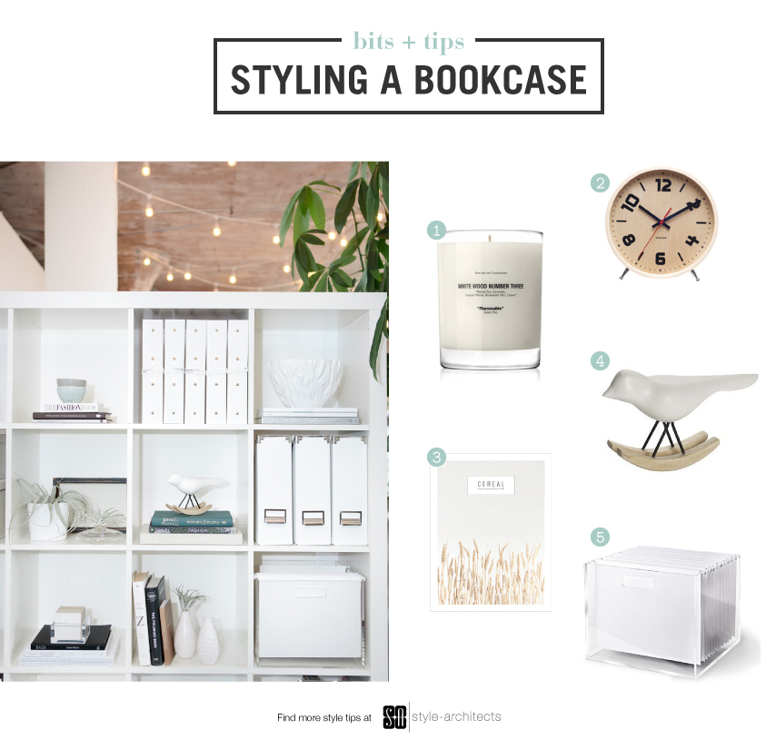 Styling a bookcase via Style-Architects