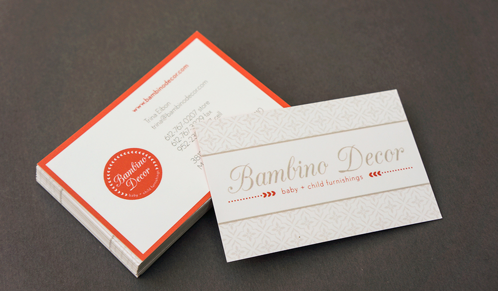 Bambino Decor branding designed by Style-Architects