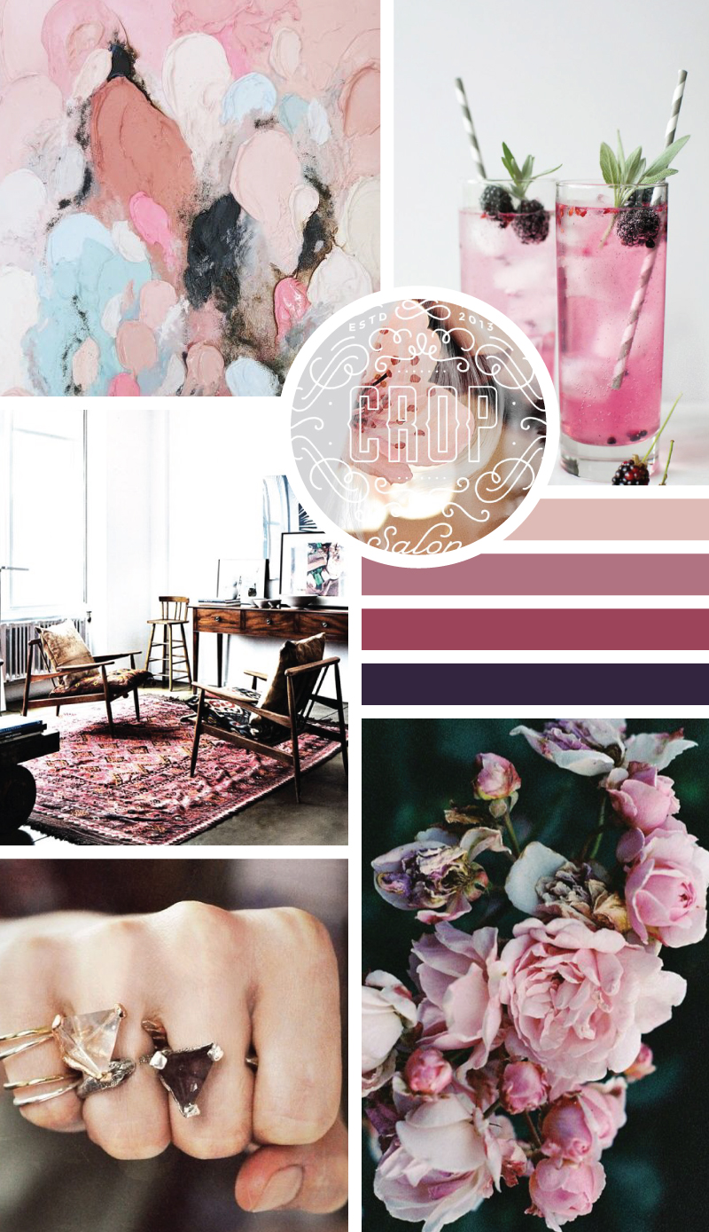 Edgy Pinks mood board // Style-Architects