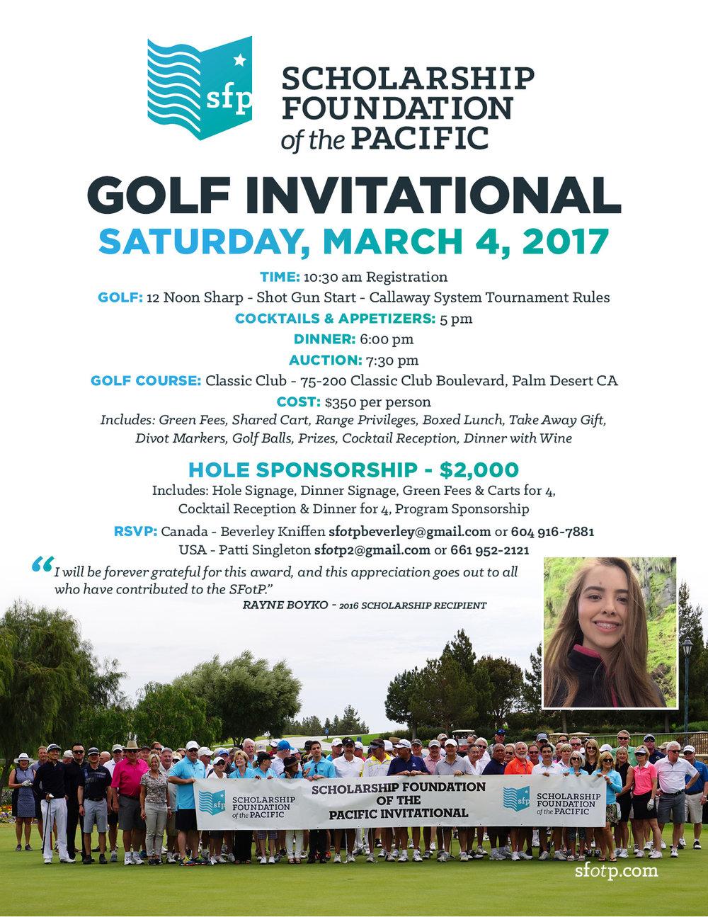 SFotP 2017 Golf Invitational