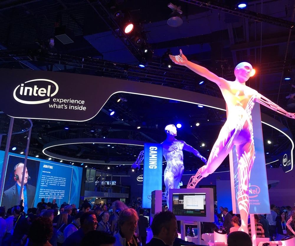 The Intel booth