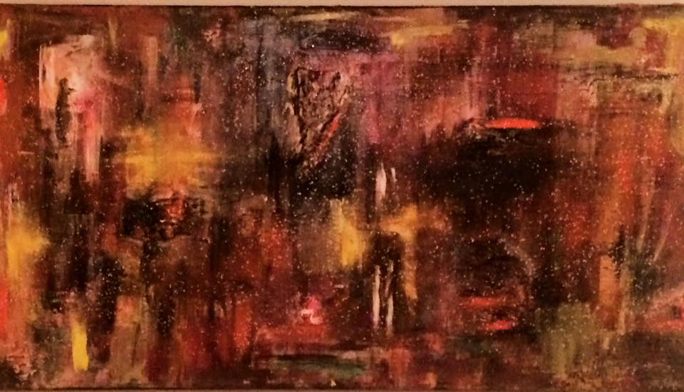 HEALING   Warmth can come out of darkness. Healing. Healing. Cured?  Acrylic, Oil and Pastels  Client custom order  2015.