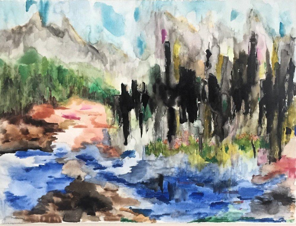 CreateIIV. (2018). Say Goodbye [Watercolour on canvas]. House of CreateIIV  Vancouver, BC. Canada.