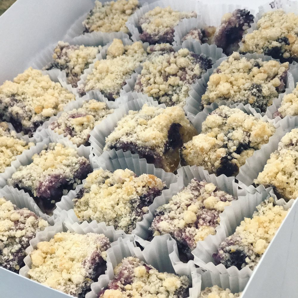 Party packs have 24pcs, and they are available in Lemon Bars, Blueberry Crumb Bars, and Pumpkin Crumb Bars.