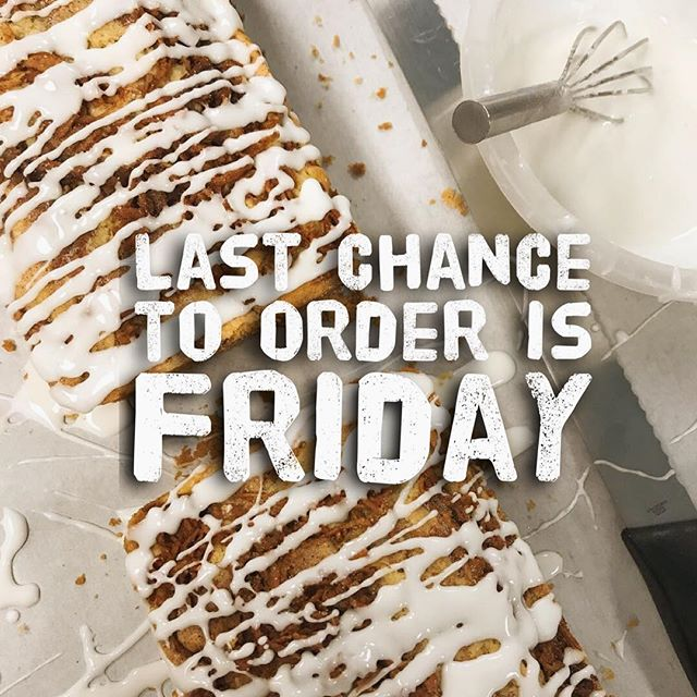 Let the countdown begin! Thanksgiving is NEXT WEEK!! Order online for pick ups on Tuesday and Wednesday. It's your last chance to order before our shop closes, HoneyLoves! Xoxo