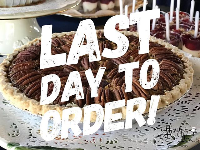 This is it, HoneyLoves! It's the last day to order for pick up on Wednesday!!! Xoxo