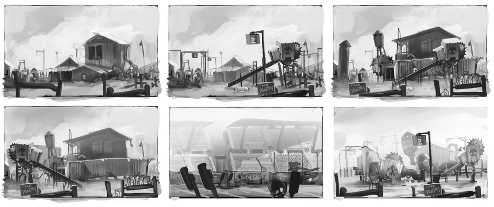 Environment Concepts - Zombie Toss