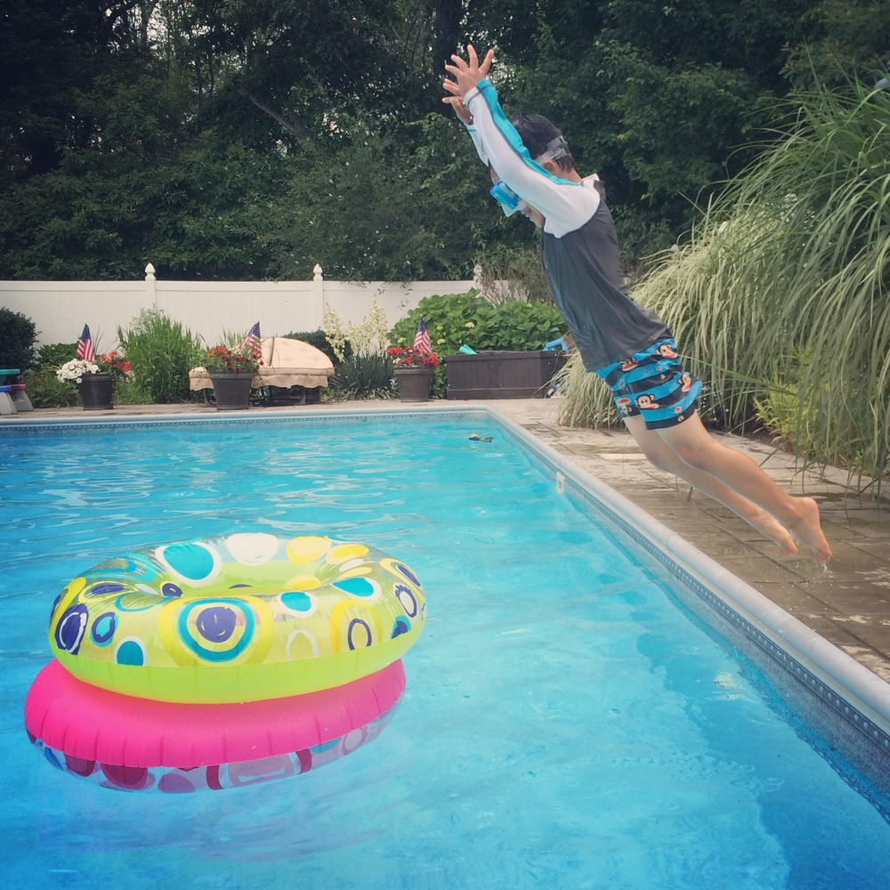 Summer Adventure No. 11: Pool Party!! Cannonball!! Kind of.