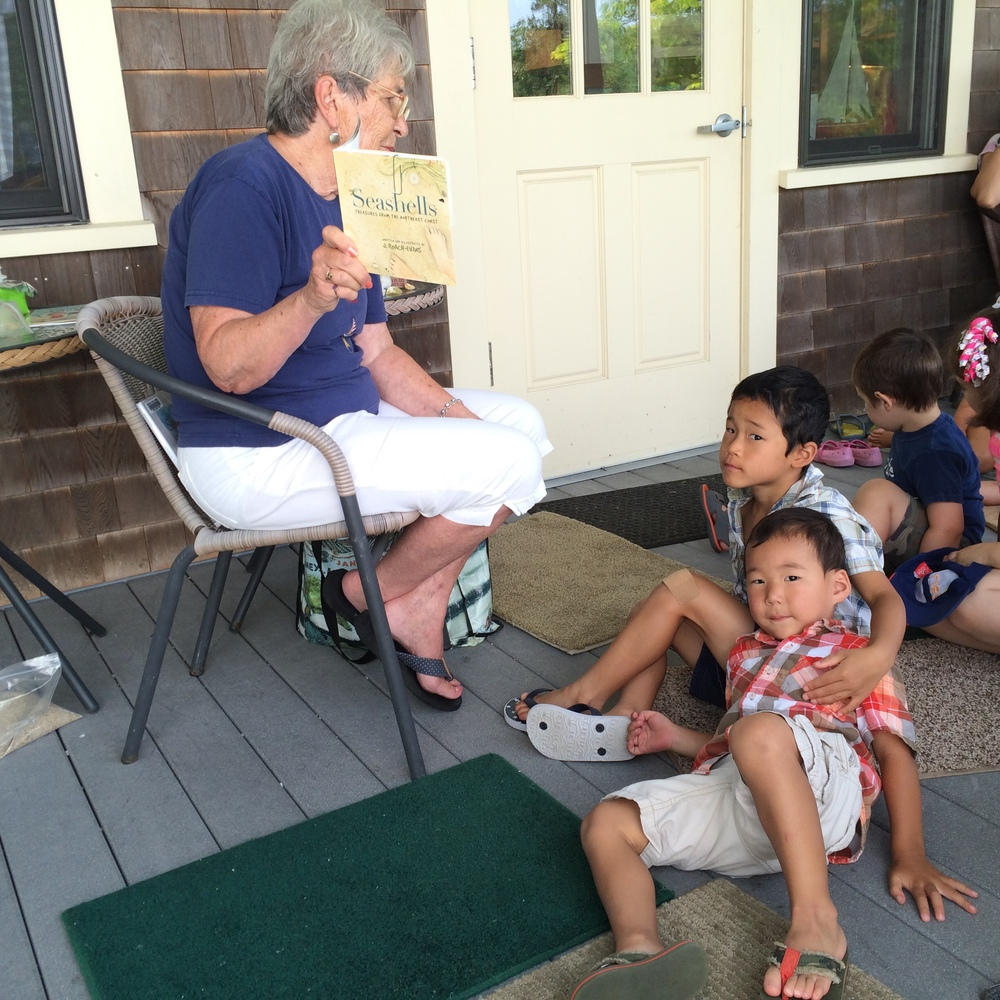Summer Adventure No. 26: Story Hour with Miss Joan. A favorite tradition.