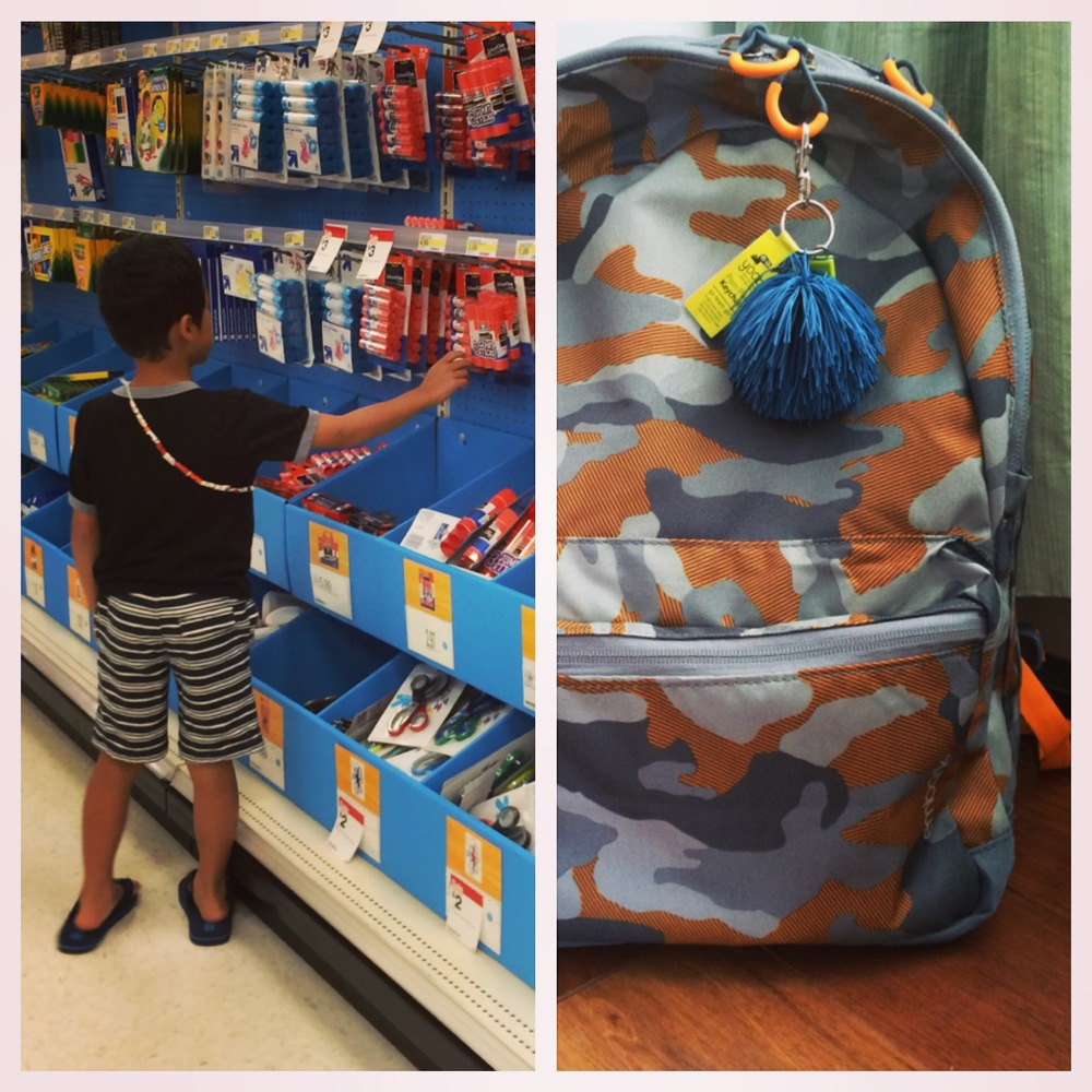 Summer Adventure No. 28: back-to-school shopping! Yes, I am actually counting it. New year, new school... Lots to be excited about. Not to mention the fact that everything he needed (even his lunchbox) fits in that backpack and was only a fraction of what last year's supplies cost! Woot!