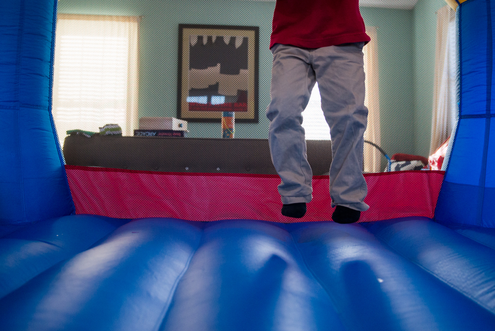 Bouncing off the stress of school...