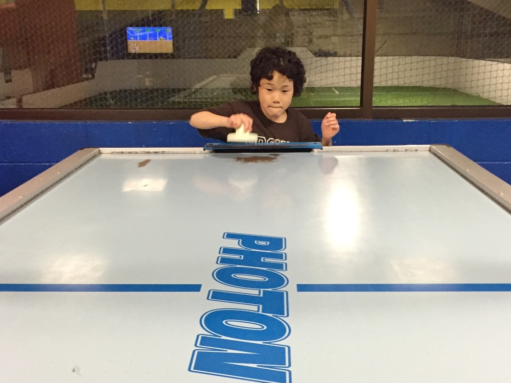 "He never met an air hockey table he didn't ""own."""