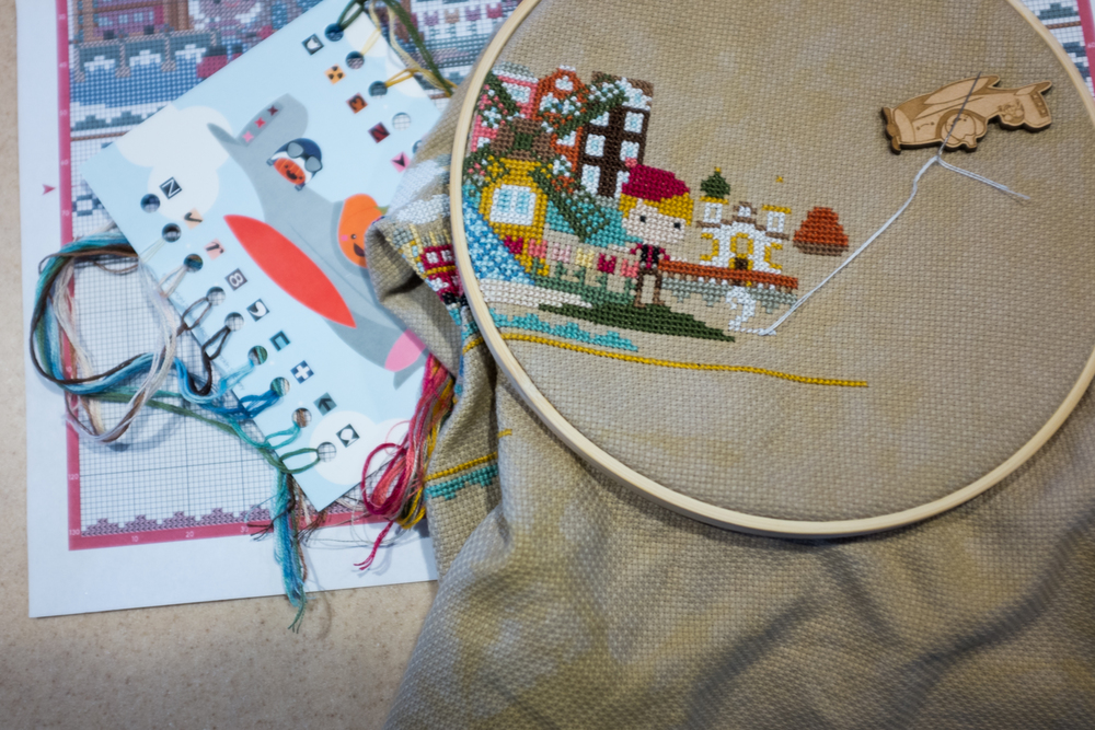 Stitching my way through sick days...