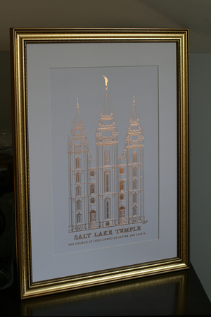 shiny copper print with 18x24 mat and frame