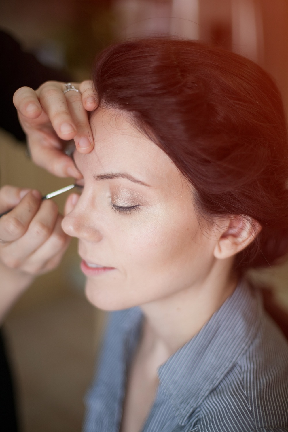 Soft glowing and gentle bridal makeup