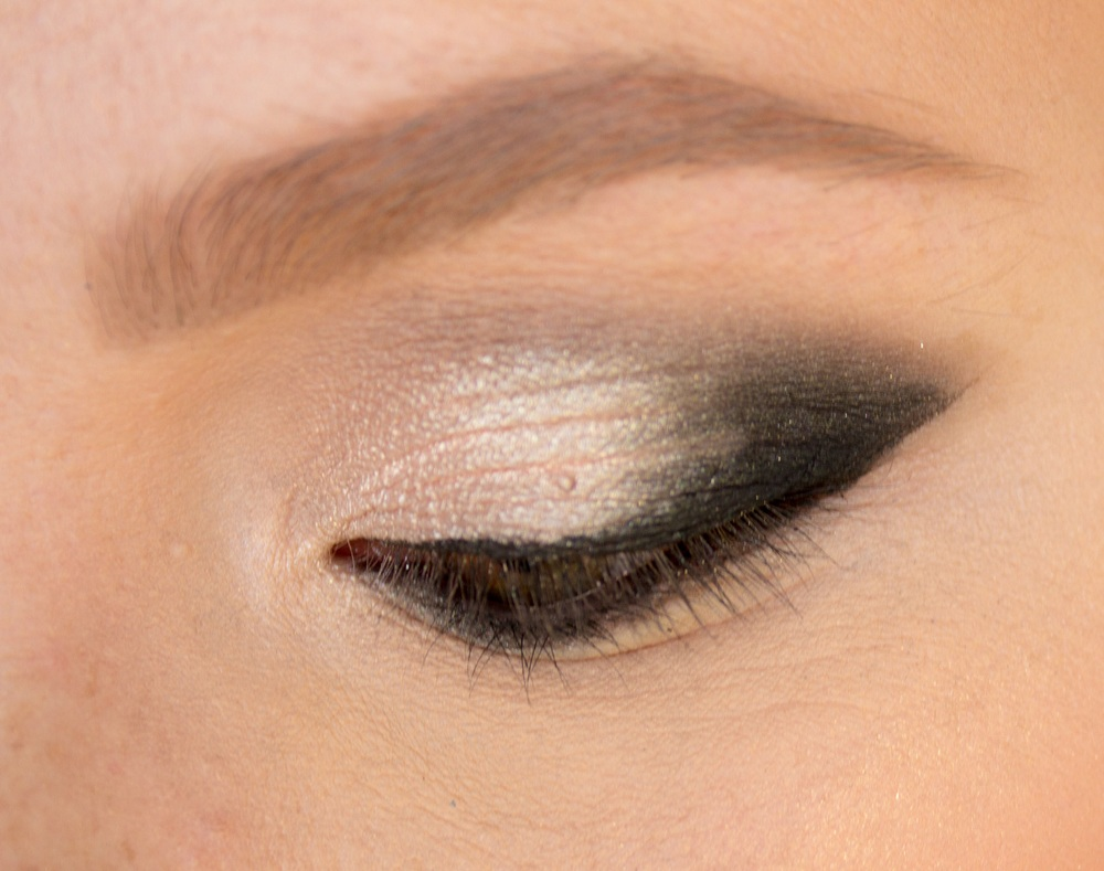 Close up of smokey eye look.