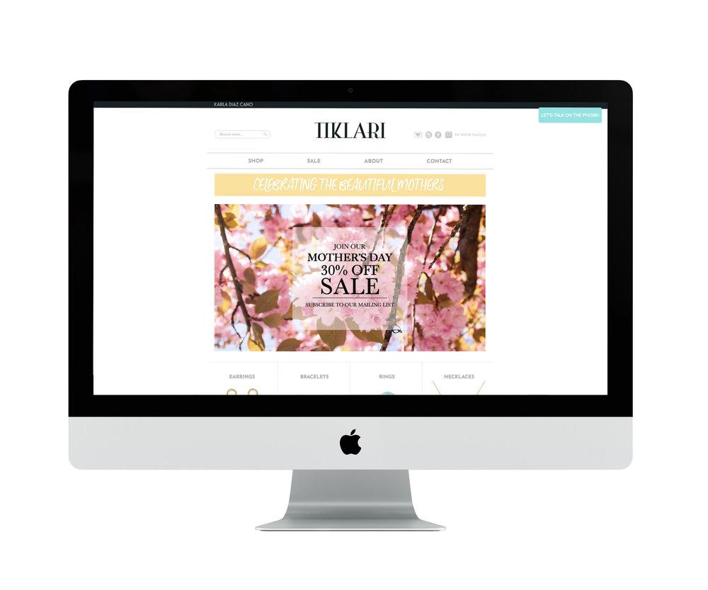 Website for Tiklari
