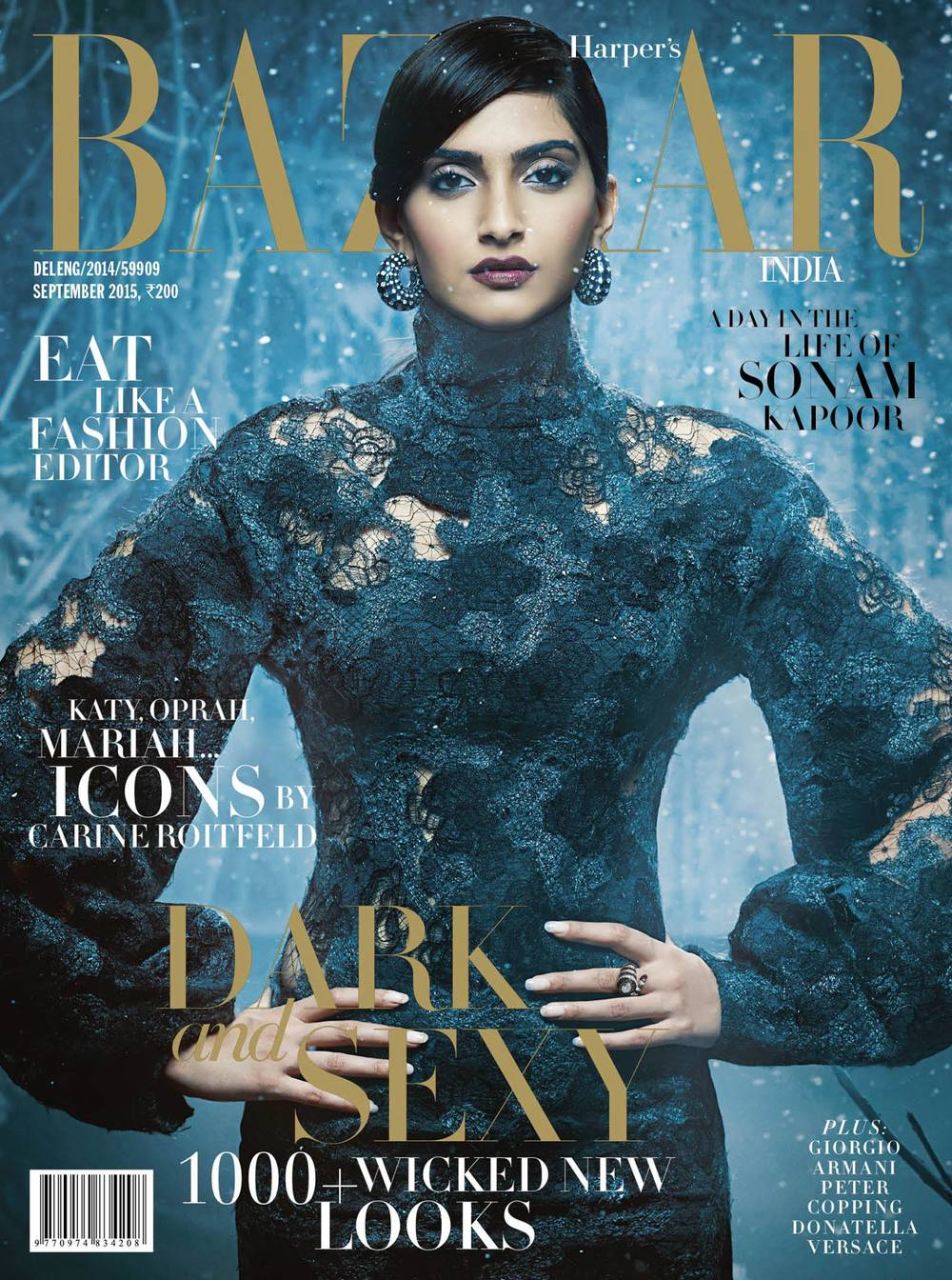 Sonam Kapoor for Harper's Bazaar - September 2015