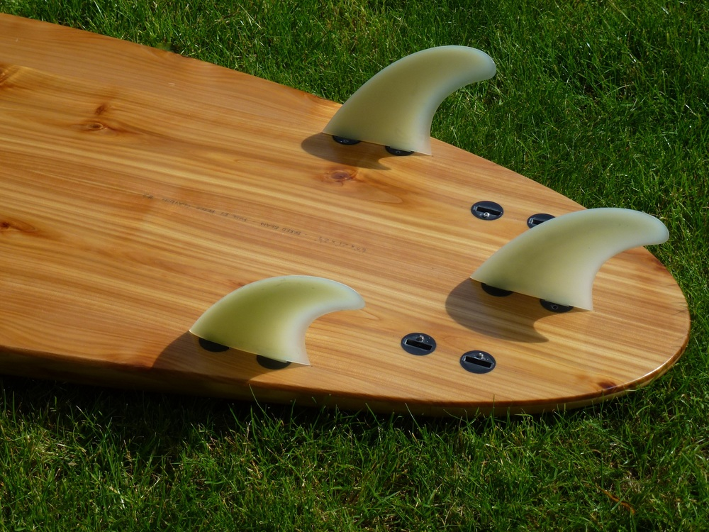 Hollow Wooden Surfboard Fins