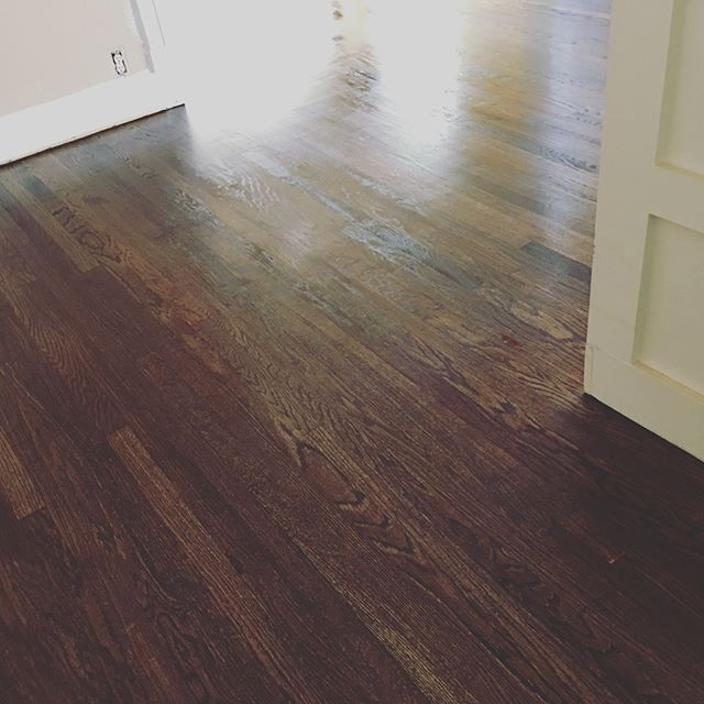 We're gushing over our just refinished hardwood floors! Swipe right to see the backwards transformation! If you're looking to have your floors worked on, check out our friends - Wilson Hardwood Floors - they are amazing to work with, exceptional quality, and affordable prices!  #hexplex #hardwoodfloors #restore #renovate #historichydepark