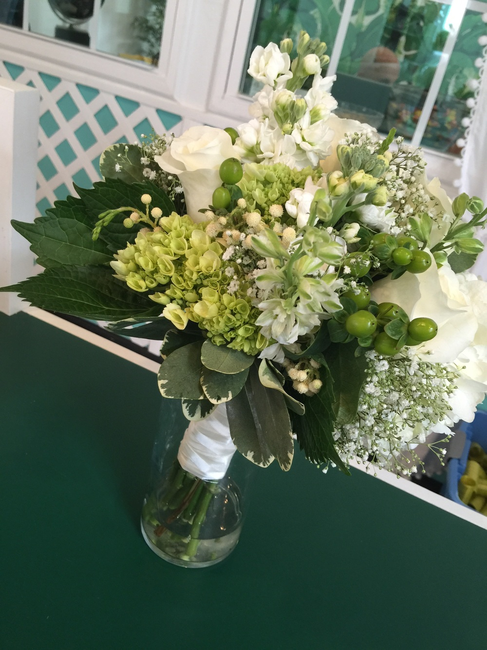 Simple Green And White Wedding Garden Party