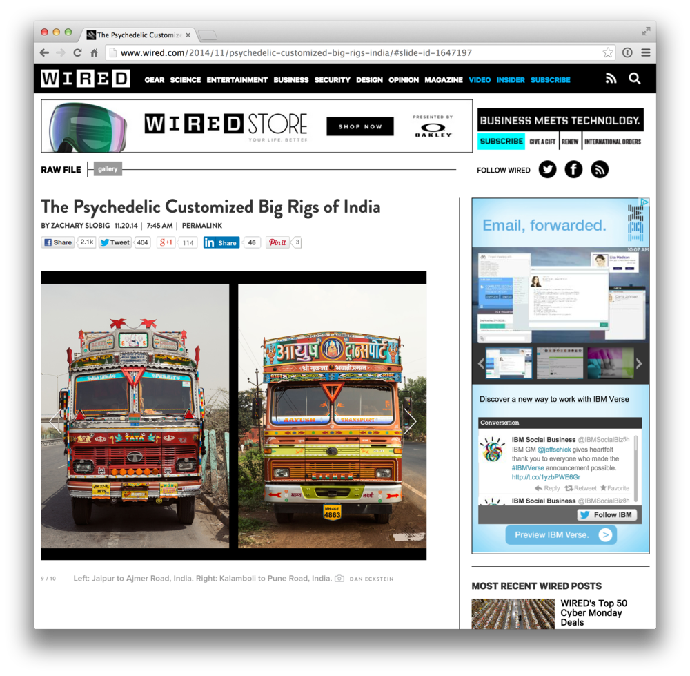 Press — Horn Please: The Decorated Trucks of India by Dan Eckstein
