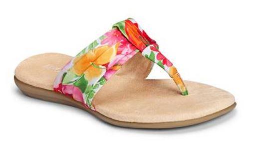 Aerosoles Chlairvoyant Watercolor Floral Flat Sandal