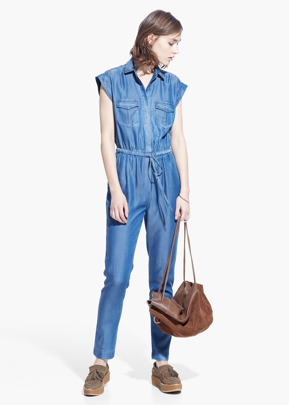 Soft Fabric Jump Suit ,  $99.99
