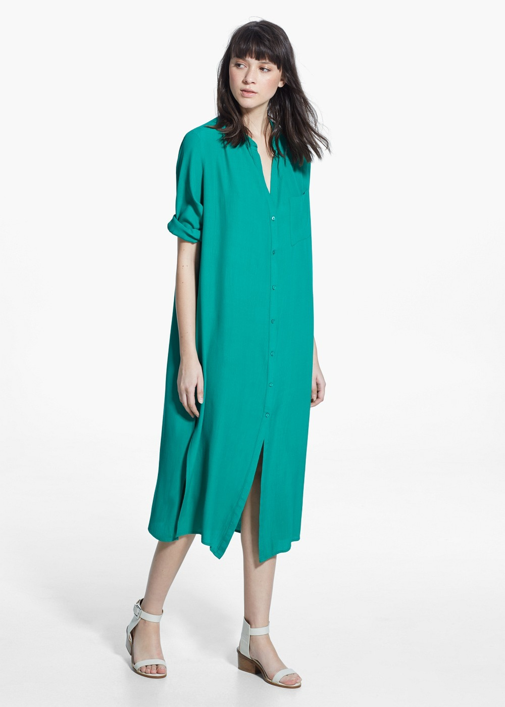 Pocket Shirt Dress , $79.99