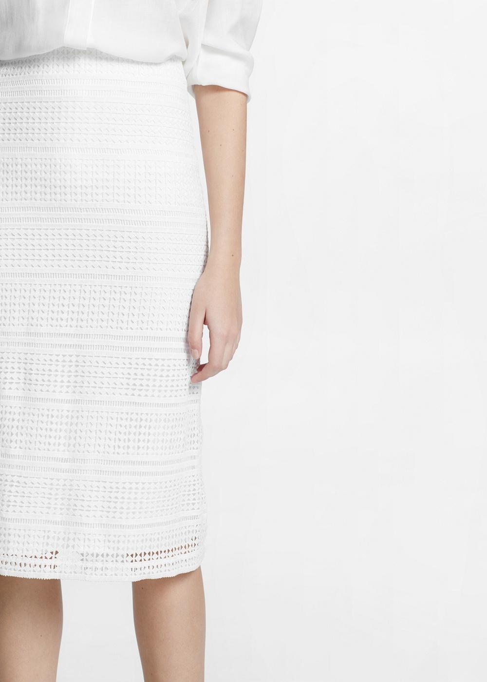 Geometric Openwork Skirt , $79.99