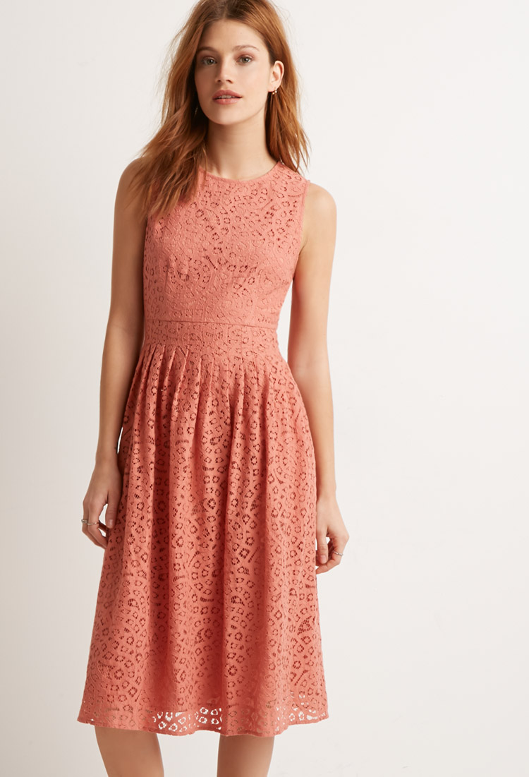 Crochet Pleated Sheath Dress , $34.90  I keep coming back to this one when I browse the site. It's the color and fabric and the style: pretty and feminine, not to loud but bright, with a little vintage feel.  It needs a pretty necklace.